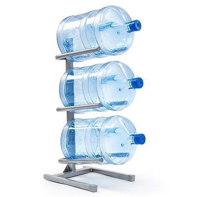 Подставка для трёх 19 л бутылей серая - фото 4941