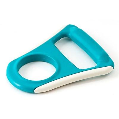 Ручка для бутылей обрезиненная AEL, плоская, голубая