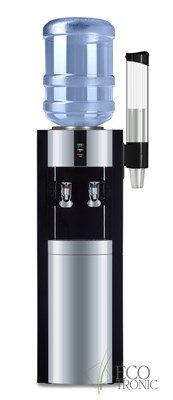 "Кулер для воды ""Экочип"" V21-L Black-Silver с компрессорным охлаждением"