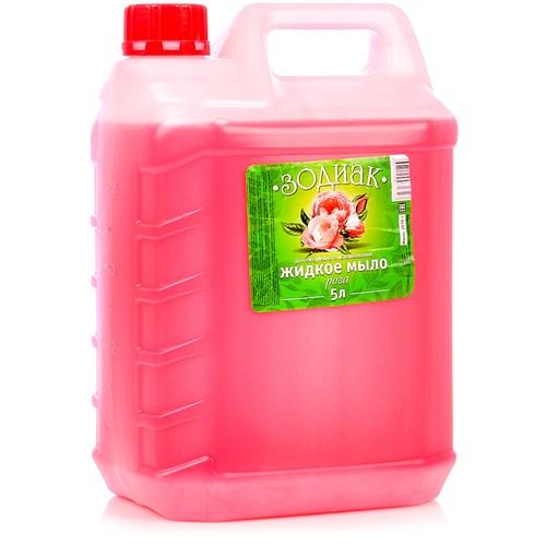 Мыло жидкое Зодиак Роза, 5 л