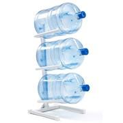 Подставка для трёх 19 л бутылей белая