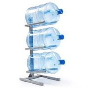 Подставка для 3 бутылей серая
