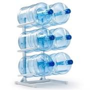 Подставка для 6 бутылей белая
