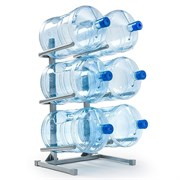 Подставка для 6 бутылей серая