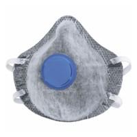 Полумаска фильтрующая (респиратор), c угольным слоем, с клапаном выдоха, FFP1